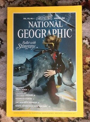 National Geographic magazine January 1989