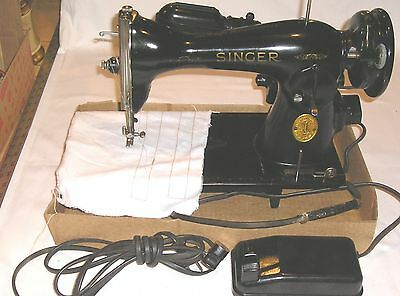 Vintage Singer Model 15 Sewing Machine AH260826 - Runs & Sews Well, Good Wiring