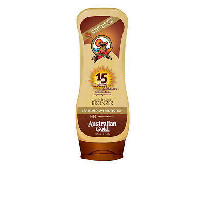 Cuerpo Australian Gold unisex SUNSCREEN SPF15 lotion with bronzer 237 ml