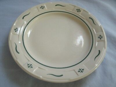 Longaberger Pottery 1 Dessert Plate Woven Tradition Heritage Made In Usa