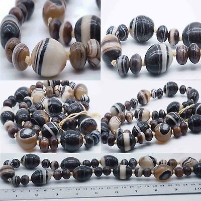 Best Strand Ancient Solomany Agate Dizzy Eye Tibetan  Beads 500 Bc #sh531