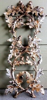 Large Salvage Oak Leaves Acorn Iron Garden Fence Gate Panel Painted Heavy Wall