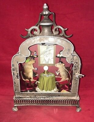 *2 Taxidermy Mice-Palm Tarot Reader/witch -Anthropomorphic-Lighted Display-mouse
