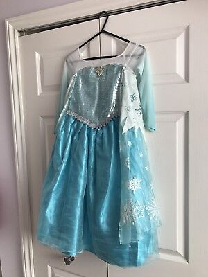 Disney Store Frozen Elsa Dress Good Used Condition Age 5-6