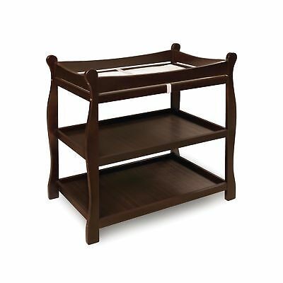 Badger Basket Sleigh Style Changing Table Espresso