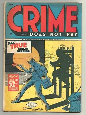 Crime does not Pay # 42 (1945) Classic Electric Chair Cover by Charles Biro!