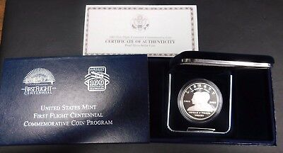 2003 First In Flight Commemorative Proof Silver Dollar! With Box/Coa!
