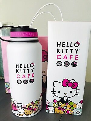 Hello Kitty Cafe Exclusive Limited Edition Thermal Thermos Water Bottle 32oz