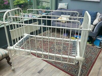Cast iron victorian baby cot