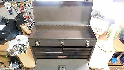 Vintage Craftsman 7 Drawer Machinist Tool Box or Chest With Key - Very Nice