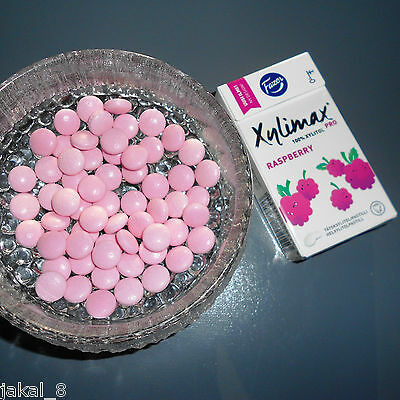 XYLITOL Pastilles,100% xylitol, Fazer, Made in Finland, RASPBERRY