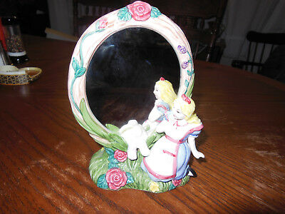 Fitz And Floyd Alice In Wonderland Through The Looking Glass Double Sided Mirror