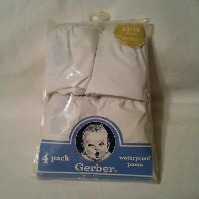 NEW Gerber Plastic Pants 12-18 Months 20-28 lbs 4 Pairs Cloth Diapers Waterproof