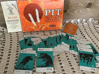 Pit Parker Brothers 1964 Vintage Card Game