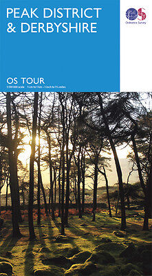 Peak District and Derbyshire Travel Map - Tour - OS - Ordnance Survey - NEW 2016