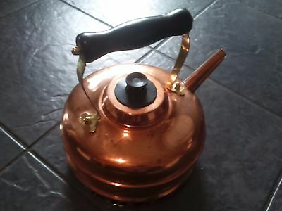 Traditional Solid Copper Kettle Handmade In England