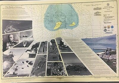the Battle of Midway's 75th anniversary commemorative chart