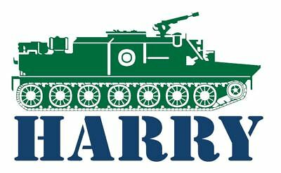 Custom Name with Tank Wall Decal Vinyl