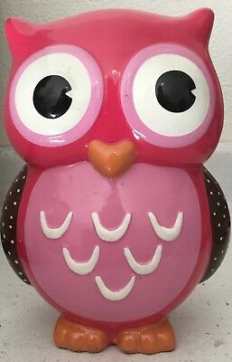 1 large Very Cute & Colorful OWL PIGGY BANK totally CUTE ceramic