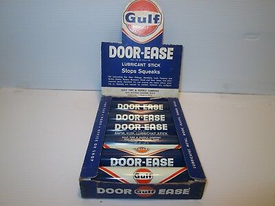 Full Counter Display Of 6 Gulf Oil Door Ease Tubes
