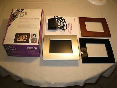 """Westinghouse 5.6"""" Digital Photo Frame #DPF-0561 w/ Box/ Instructions- Excellent"""