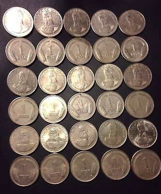 Old Colombia Coin Lot - PESOS - 30 Excellent Uncommon Coins - Lot #921