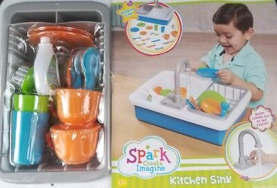 Spark Kitchen Sink - Brand new in box - Actual working toy sink! HOT TOY ITEM