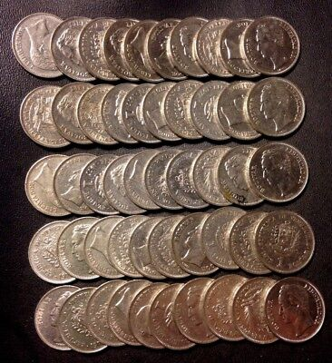Old Venezuela Coin Lot - BOLIVAR Coins - 50 Unsearched Coins - Lot #921