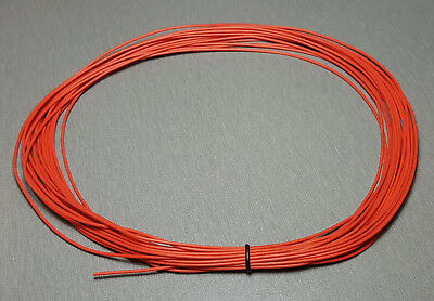 10 Metres ORANGE UL-1007 Hookup Wire 24AWG 1.4mm PVC insulator