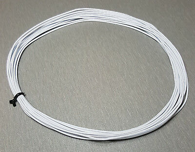 10 Metres WHITE UL-1007 Hookup Wire 24AWG 1.4mm PVC insulator