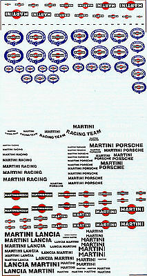 Decal Sheets Martini - 1: 18-1: 24-1:3 2-1 : 43 - Size of Arc 127 x 250 mm