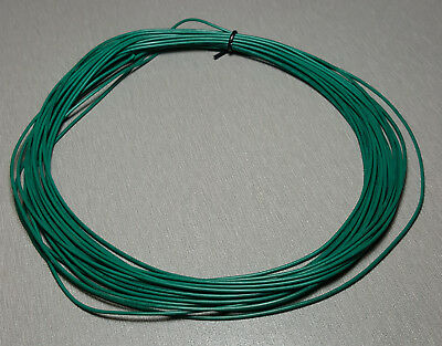 10 Metres GREEN UL-1007 Hookup Wire 24AWG 1.4mm PVC insulator
