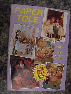 Paper Tole Instructional Book-Volume 7 - Boys Girls - 5 Projects-New