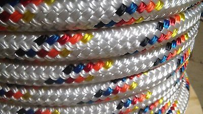 """5/8"""" x 85 ft. Double Braid~Yacht Braid Polyester rope.Made in USA."""