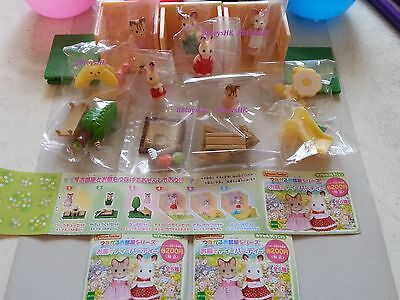 Epoch Gashapon Sylvanian Families Tea Party Garden Fittings Full Set of 6 pcs