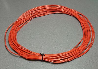 10 Metres ORANGE UL-1007 Hookup Wire 20AWG 1.8mm PVC insulator