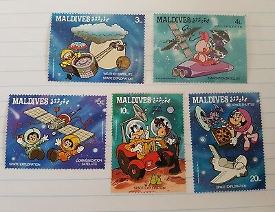 Disney 1988 Maldives Space Exploration Stamps.