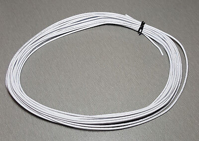10 Metres WHITE UL-1007 Hookup Wire 20AWG 1.8mm PVC insulator