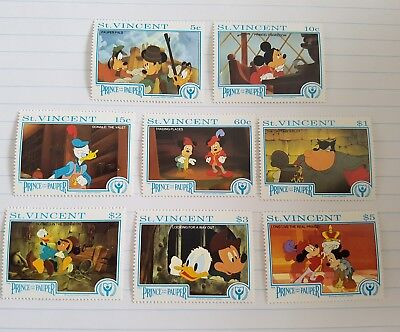 1991 Disney St Vincent The prince and the pauper stamps.