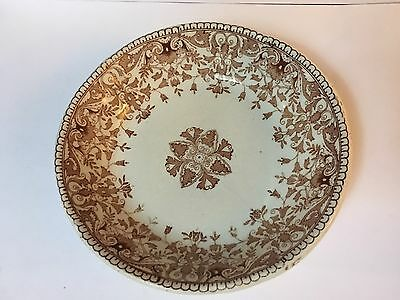 """Antique 1890s IRONSTONE 6"""" ROUND DISH - TOURNAY By T & R Boote England"""