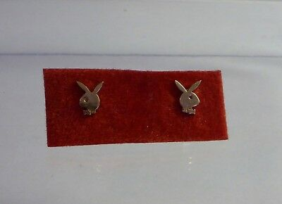 9ct Solid Gold Playboy Bunny Stud Earrings