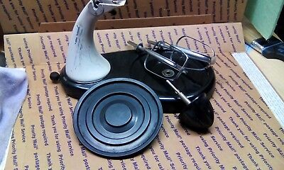 Vintage Sunbeam Mixmaster parts turntable with stand, beaters and juice reamer