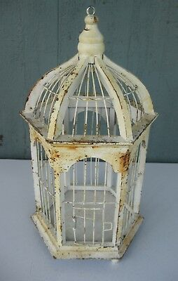 Small Faux Vintage Bird Cage