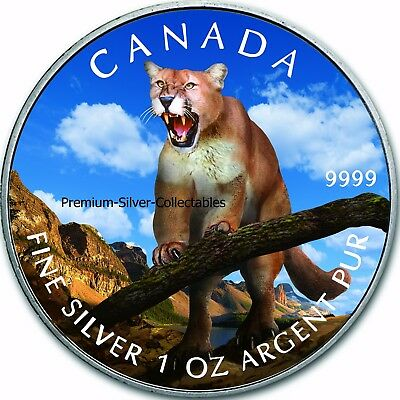 2012 Canada Wildlife Series Cougar  Coin 3 of 6 - 1 Ounce Pure Silver .9999 !