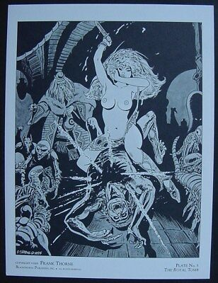 """FRANK THORNE Limited Edition Print """"The Royal Tomb"""" from Sword of Eros Portfolio"""