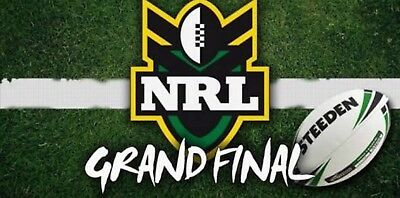 2x 2017 NRL Grand Final Tickets GREAT GOLD MEMBER SEATS