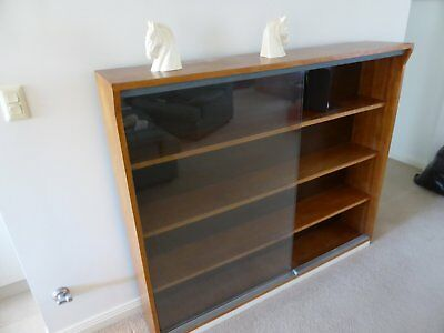 bookshelves / bookcase with glass doors