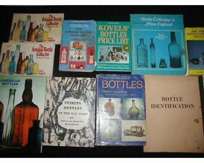 Lot of 11 Vintage  Bottle Collecting Books and Guides