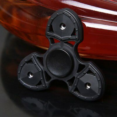 Tri Fidget Hand Finger Spinner EDC Stress ADD Relief Toy for Adults Kids Black