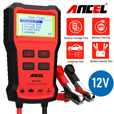 Car Battery Load Tester 12V Auto Vehicle Analyzer 100-1100CCA Foxwell BT100 Pro